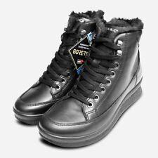 Gore Tex Waterproof Black Womens Italian IGI Zip Boots