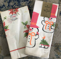 Vtg 2 Christmas Paper Tablecloths Hallmark Snowmen Futura Repurpose Craft New