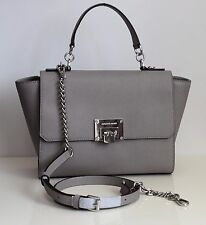 MICHAEL KORS Damen Tasche TINA pearl grey Leder MD TH SATCHEL