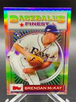 2020 Topps FINEST FLASHBACKS BRENDAN MCKAY REFRACTOR RC #180 TAMPA BAY RAYS