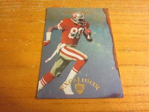 Jerry Rice 1997 Excalibur 22K Knights #8 Serial #'d 1724/2000 Card NFL 49ers