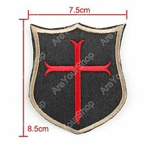 Special Force Devgru Seal6 Crusader Cross Ecusson Brodé Hook & Loop Patch
