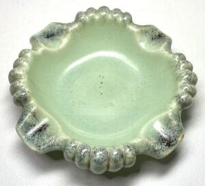 Vtg D&B Dumler & Breiden Melsungen Germany Green Ceramic Ashtray Trinket Dish