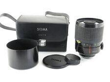 Für Contax / Yashica Sigma MC 1:8 f=600mm Spiegelobjektiv mirror lens + hood