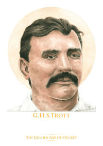 Golden Age of Cricket - Harry Trott - Limited Edition A4 watercolour print