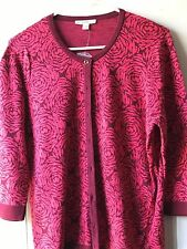 Pre-owned Isaac Mizrahi sweater, L, fuschia/burgandy