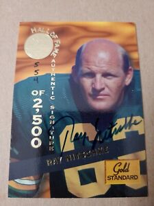 1994 Signature Rookies Gold Standard Hall of Fame 554/2500 Ray Nitschke Auto HOF