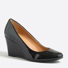 6c58da7c466 JCrew Martina Black Patent Wedges Size 6.5 M 3 Inch Heel