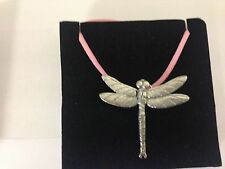 Large Dragonfly PP-A31 Pewter Pendant on a PINK CORD Necklace