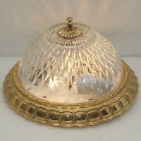 Decken Lampe Antik Stil Plafoniere Ø26cm NEU VERKABELT Messing Led Ceiling Light