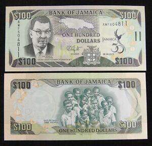 Jamaica Commemorative Banknote 100 Dollars 2012 UNC