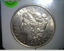 """1880-P Morgan Silver Dollar  - AU - Partial Clashed """"E"""" On Reverse - HOT 50"""