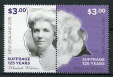 New Zealand NZ 2018 MNH Suffrage 125 Years Kate Sheppard Camellias 2v Set Stamps