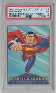 2003 Inkworks Justice League Free Comic Book Day Promo #1 Superman - PSA 7 NM