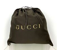 """Gucci New Auth Brown Cotton Large Storage Travel Dust Bag 19"""" x 20.5"""" FreeShip"""