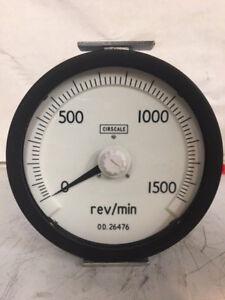 Cirscale 0-1500 Rev/Min RPM Gauge OD26476 6620-99-538-9276 Ex MOD