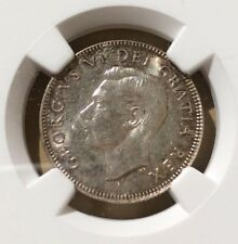 1948 Canada 25 Cents NGC UNC DETAILS OBV CLEANED - Silver