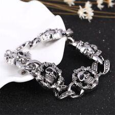 Skeleton Shape Bangle Chain Stainless Steel Unisex Skull Bracelet Jewelry