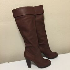 Colin Stuart Brown Leather Over Knee Boots Womens Size 9B Straight or Cuff