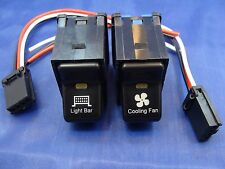 2 Rocker Switches LIGHT BAR / COOLING FAN TJ Wrangler LIFE TIME WARRANTY New