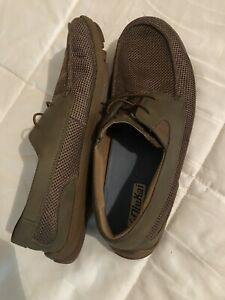 Olukai Brown Tan Mano Mesh Slip-on Loafers Boat Shoes Mens Size 10 Comfort