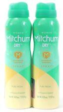 2 Women Mitchum Dry Advanced Control Spray Pure Fresh Antiperspirant Deodorant