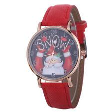 Cute Women Christmas Pattern Quartz Watch Leather Strap Belt Table Wrist Watch