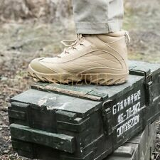 Men's Army Combat Leather Tactical Protect Boots Outdoor Hiking Desert Shoes