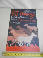 "Rare August 15 2004 P J Harvey "" Cole Gerst "" Concert Poster Jon Brian Black Hrt"