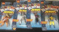 Vtg Marvel Comics Heavy Metal Heroes Die Cast Action Figures Lot of 4 Wolverine