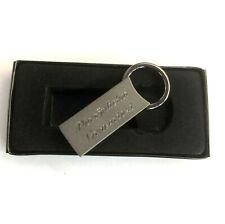 ZWEI STÜCK Metall Schlüsselanhänger anthrazit mit Persönlicher Gravur
