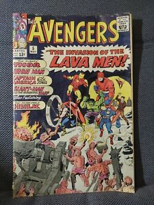 Avengers 5  (5/64) First Lava Men by Stan Lee & Jack Kirby G/VG