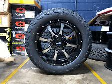 "20x9 Moto Metal Mo970 Black Wheels Rims 32"" At Tires 6x5.5 Gmc Sierra 1500 Yukon"