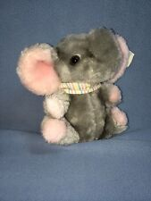 "Dakin 6"" Elephant Circus Babies Bean Bags Stuffed Animal Handcrafted Lovey W/Tag"