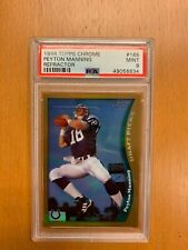 1998 TOPPS CHROME Peyton Manning #165 Refractor Draft Picks Colts RC PSA 9