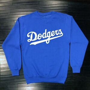 Los Angeles Dodgers Crew Neck Sweat Shirt LA LAD Sweatshirt Adult Men Cotton