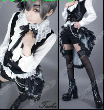 Black Butler Ciel Phantomhive Cos Book of Circus Costume Cosplay Free shipping