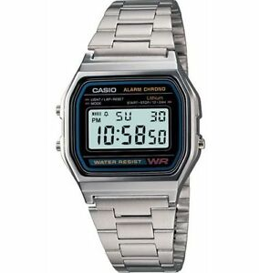 Casio A158WA-1,  7 Year Battery Classic Chronograph Watch, Alarm, Date
