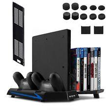 Supporto verticale per PS4 Slim/PS4 Con Ventilatore e base di ricarica