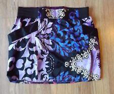 Cute NWT Body Central Bubble Purple, Blue & Black  Miniskirt SZ M