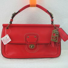 NWT COACH LEATHER CITY WILLIS SHOULDER/CROSSBODY BAG 22062 VERMILLION