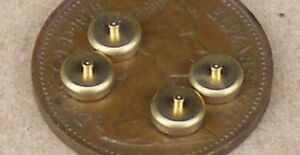 1:12 Scale 4 Non Working Metal Light Switches Tumdee Dolls House Miniature 530