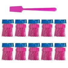 10pk Pana Spade Shaped High Quality Cosmetic Makeup Plastic Spatula Scoop -Pink