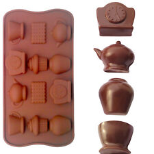 Candy Chocolate Silicone Tea Party Tea Cup Teapot Tray Bake Ice Cube Mould