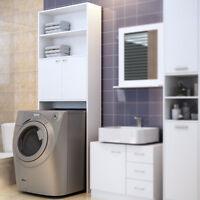 Deuba® Armadio alto per lavatrice colore bianco