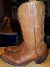 R. Vigna cowboy boots brown size 9-D leather western nice