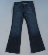 Fidelity Snap Dragon Low Waist Flare Women Blue Jeans Size 28 / 34 Measure 32x32