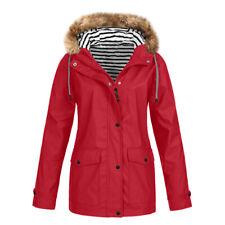 Womens Winter Warm Hooded Waterproof Windproof Outdoor Coats Jacket Plus Size