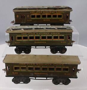 Ives Vintage O Gauge Assorted Prewar Passenger Cars: 129, 130 [3]