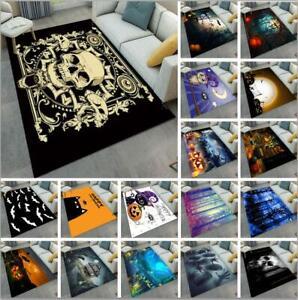 Horror Halloween Pumpkin Skull Yoga Carpet Floor Mat Living Room Home Area Rugs